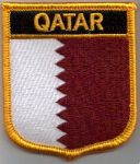 Qatar Embroidered Flag Patch, style 07.